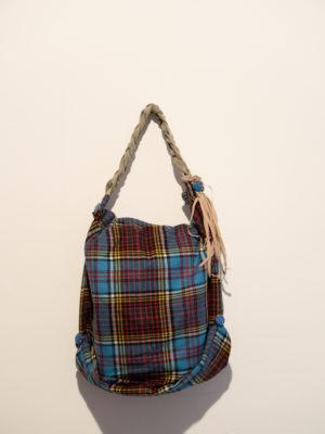 borsa cotone scozzese
