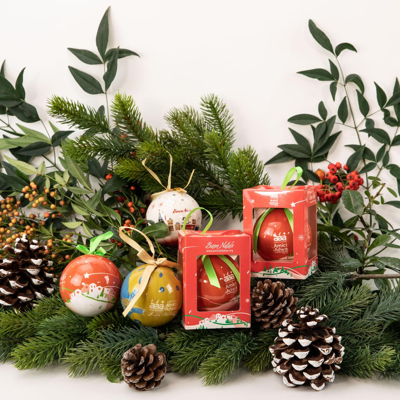 Decorazioni Natalizie Con Il Polistirolo.Amici Di Adwa Palline Di Natale Biglietti Carta Regalo